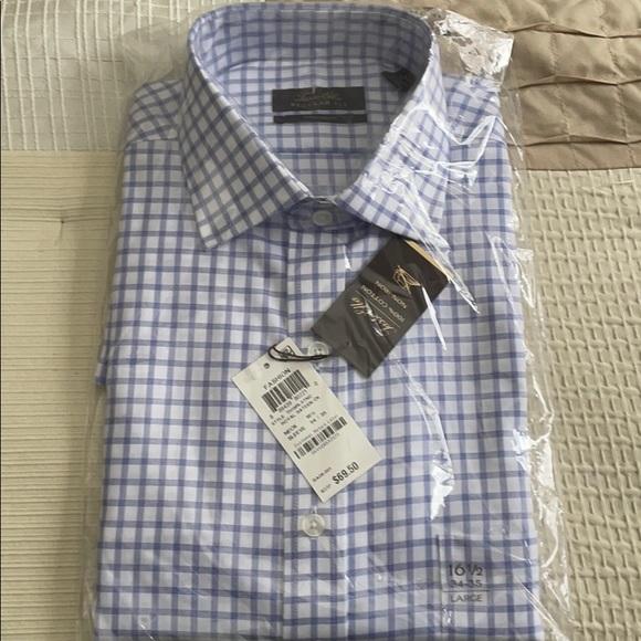Tasso Elba Men Dress Shirt 16.5 34/35 NWT